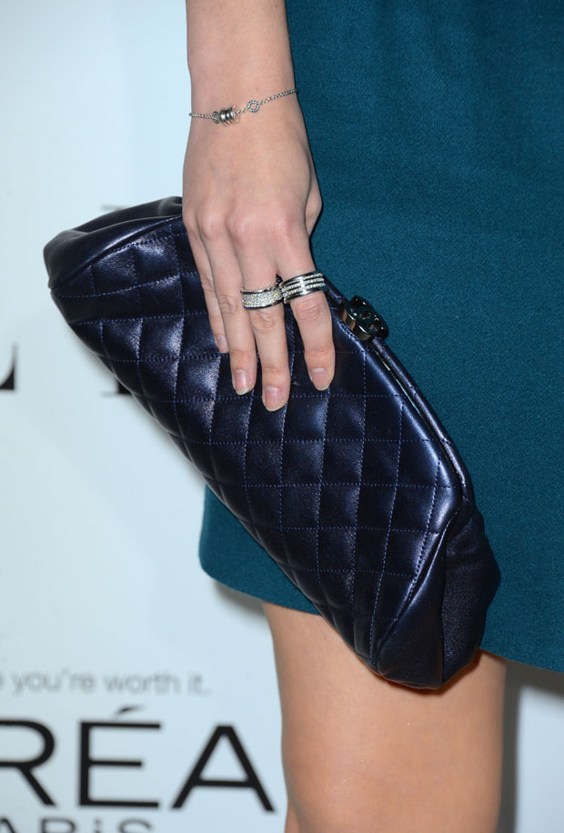 Mary Elizabeth Winsteads' Chanel clutch