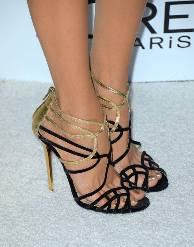 Nina Dobrev's Jimmy Choo 'Melvin' sandals