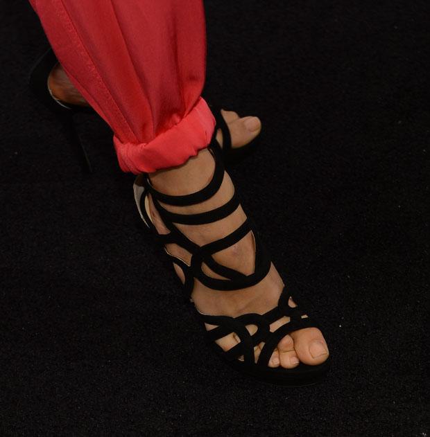 Angela Sarafyan's Jerome C. Rousseau sandals