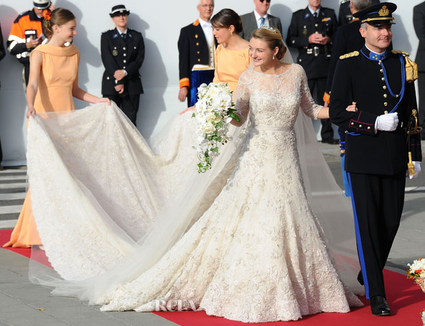 Princess Stephanie Of Luxembourg In Elie Saab Couture Royal Wedding
