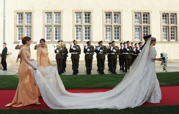 Princess Stephanie of Luxembourg in Elie Saab Couture