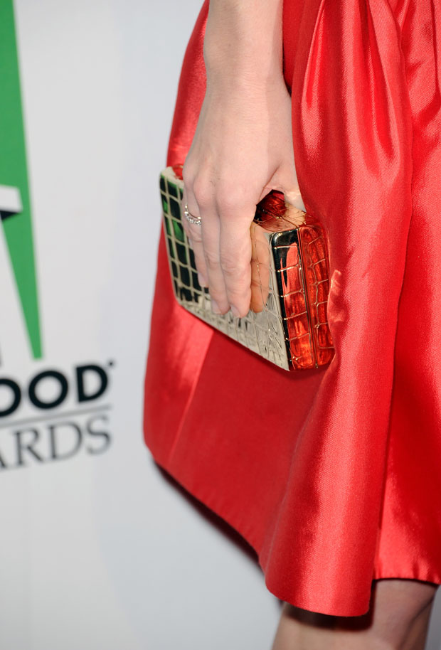 Amanda Seyfried's Judith Leiber clutch