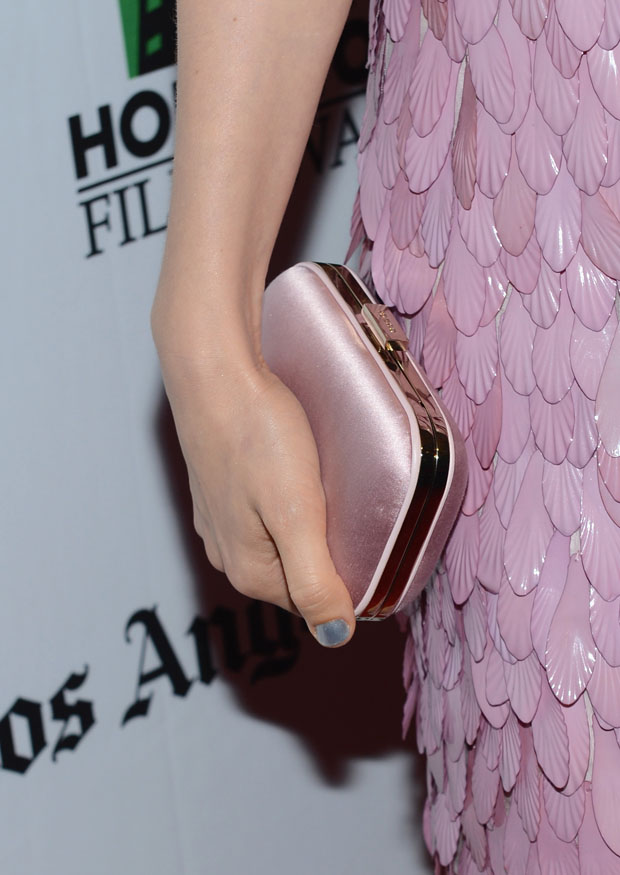 Bella Heathcote's Gucci clutch