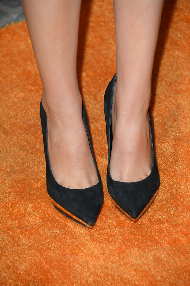 Victoria Justice's Versace shoes
