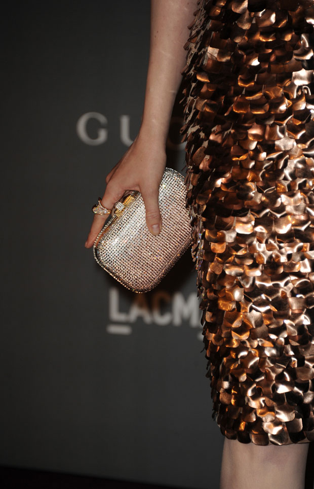 Evan Rachel Wood's Gucci clutch
