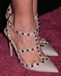 Olivia Munn's Valentino Rockstud slingbacks