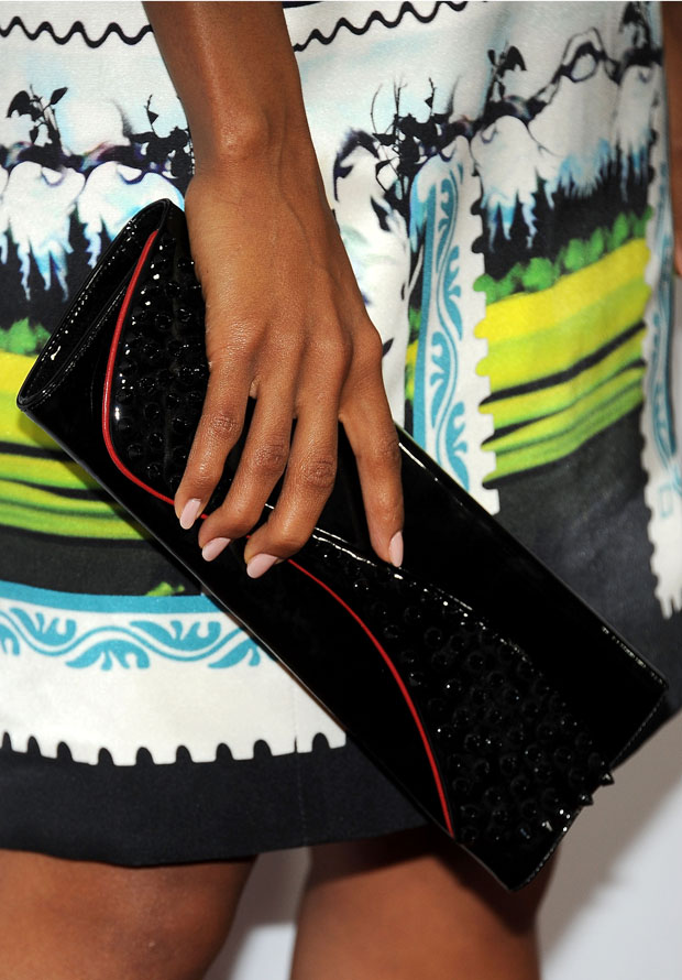 Kerry Washington's Christian Louboutin Pigalle Spike clutch