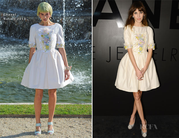 Alexa Chung In Chanel - Chanel's Fine Jewelry 80th Anniversary Celebration