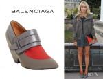 Alexandra Golovanoff's Balenciaga Thick Strap Shoe Booties