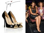 Alicia Keys' Giuseppe Zanotti Bow Embellished Pumps