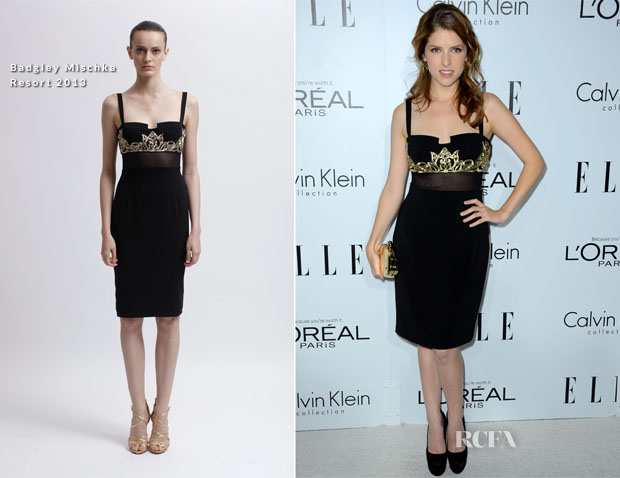 Anna Kendrick In Badgley Mischka - Elle's 19th Annual Women In Hollywood Celebration