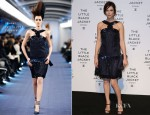 Anna Mouglalis In Chanel Couture - 'Chanel The Little Black Jacket' Exhibition Launch