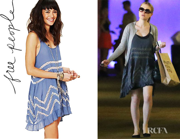 Anna Paquin's Free People Voile Trapeze Slip