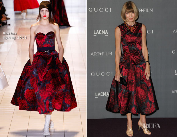 Anna Wintour In Rochas - LACMA 2012 Art + Film Gala