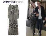Anne Hathaway's Vanessa Bruno Printed Silk Chiffon Dress
