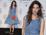 Astrid Berges-Frisbey  In Chanel -  'Chanel The Little Black Jacket' Exhibition Launch