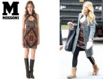 Blake Lively's M Missoni Patterned Knitted Dress