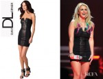 Britney Spears' David Lerner Strapless Dress