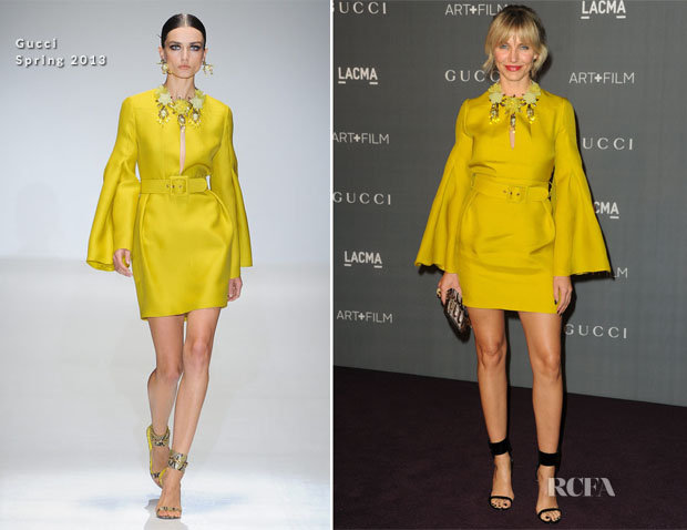 Cameron Diaz In Gucci - LACMA 2012 Art + Film Gala