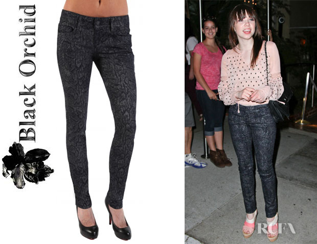 Carly Rae Jepsen's Black Orchid Skinny Jeans