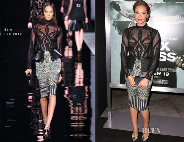 Carmen Ejogo In Etro - 'Alex Cross' LA Premiere