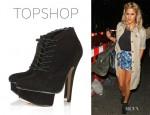 Caroline Flack's Topshop Alisha Scollop Edge Boots