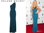 Cat Deeley's Roland Mouret Wendover One Shouldered Stretch Crepe Gown
