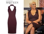 Christina Aguilera's Alexander McQueen Halter Neck Dress