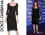 Christina Hendricks' Dolce & Gabbana Lace Pencil Dress