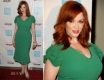 Christina Hendricks In L'Wren Scott - 41st Annual Peace Over Violence Humanitarian Awards