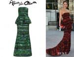 Devon Aoki's Alice + Olivia Tiered Peplum Gown
