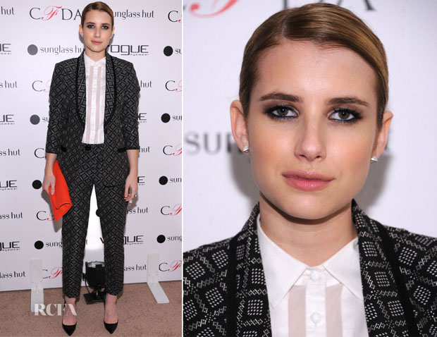 Emma Roberts In Nanette Lepore - Vogue Eyewear and CFDA Unveiling Of The 'Emma' Sunglasses