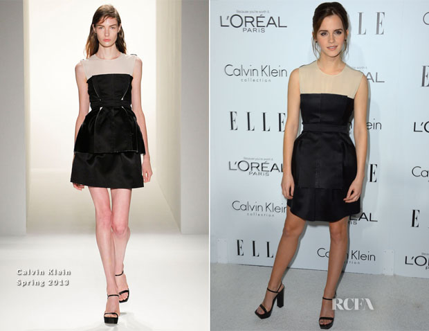 Emma Watson In Calvin Klein - Elle's 19th Annual Women In Hollywood Celebration