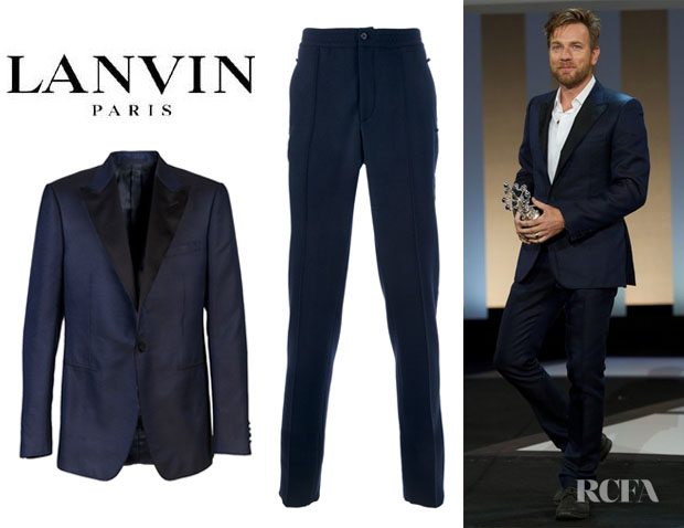 Ewan McGregor's Lanvin Jacket And Lanvin Elasticated Waist Trousers