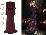 Florence Welch's Gucci Silk Georgette Ruffle Gown