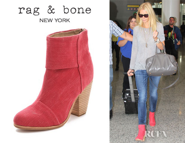 Gwyneth Paltrow's Rag & Bone Classic Newbury Canvas Booties