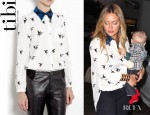 Hilary Duff's Tibi Bird Print Blouse