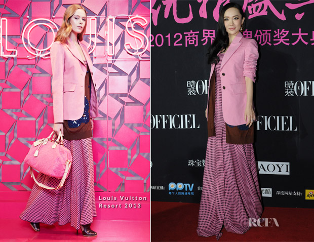 Huo Siyan In Louis Vuitton - L'Officiel 2012 China Elegance Awards
