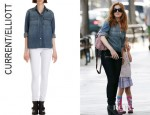 Isla Fisher's Current/Elliott Denim Shirt