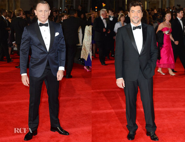 53f7d7b683cfe Daniel Craig In Tom Ford   Javier Bardem In Gucci –  Skyfall  Royal  Premiere. The men of James Bond s   ...