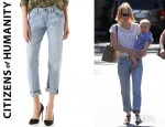 January Jones' Citizens of Humanity Dylan Boyfriend Jeans