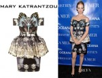 January Jones' Mary Katrantzou Nebraska Printed Dress