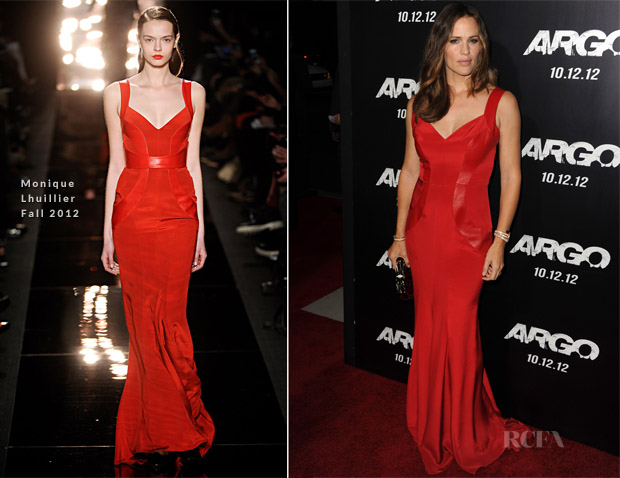 Jennifer Garner In Monique Lhuillier - 'Argo' Premiere