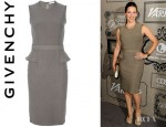 Jennifer Garner's Givenchy Peplum Pleat Insert Dress
