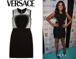 Jennifer Hudson's Versace Chainmail Paneled Silk Crepe Dress