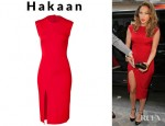 Jennifer Lopez' Hakaan Sleeveless Sheath Dress