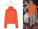 Jennifer Lopez' Proenza Schouler Chunky Knit Cashmere Turtleneck Sweater