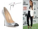 Jessica Alba's Giuseppe Zanotti Bi-Colour Specchio Shoes