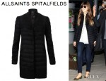 Jessica Biel's All Saints Fur Shield Coat