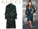 Jessica Biel's Gucci Ruffled Wrap Dress